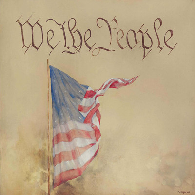 1. We The People – Preamble Flag Series Art Print