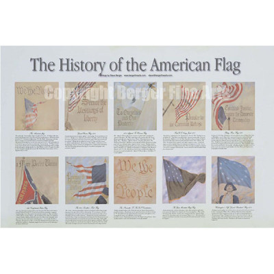 Preamble American Flag Series Poster