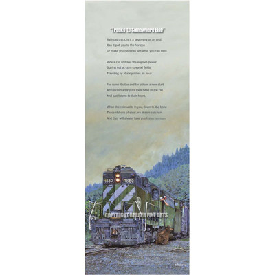 Burlington Northern Break Time with Poem