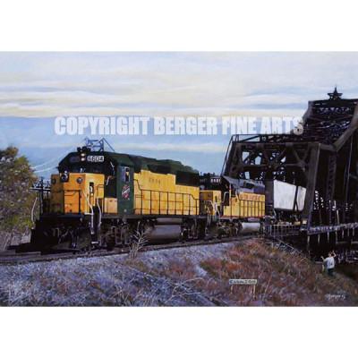 Bridge in Clinton, Iowa – Train Crossing Mississippi River