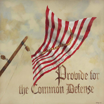 4. Provide for the Common Defense – Preamble Flag Series Art Print