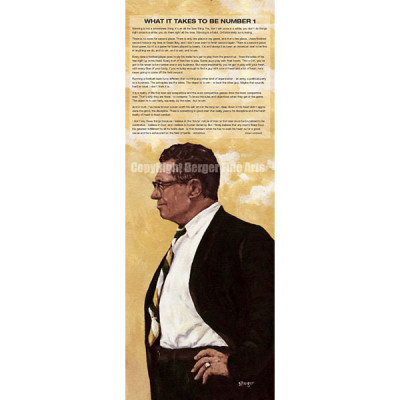 Vince Lombardi with Speech Art Print