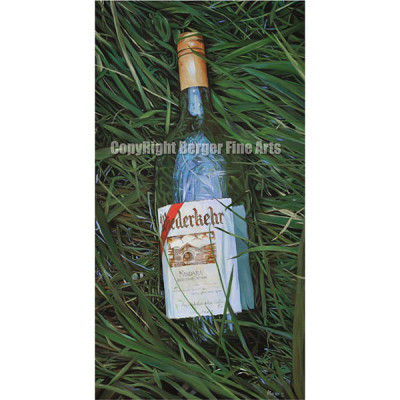 Wine Bottle in Tall Grass