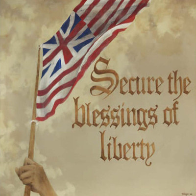 6. Secure the Blessings of Liberty – Preamble Flag Series Art Print