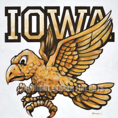 Iowa Hawk Painting