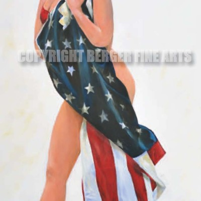 Marilyn Wrapped In The Flag