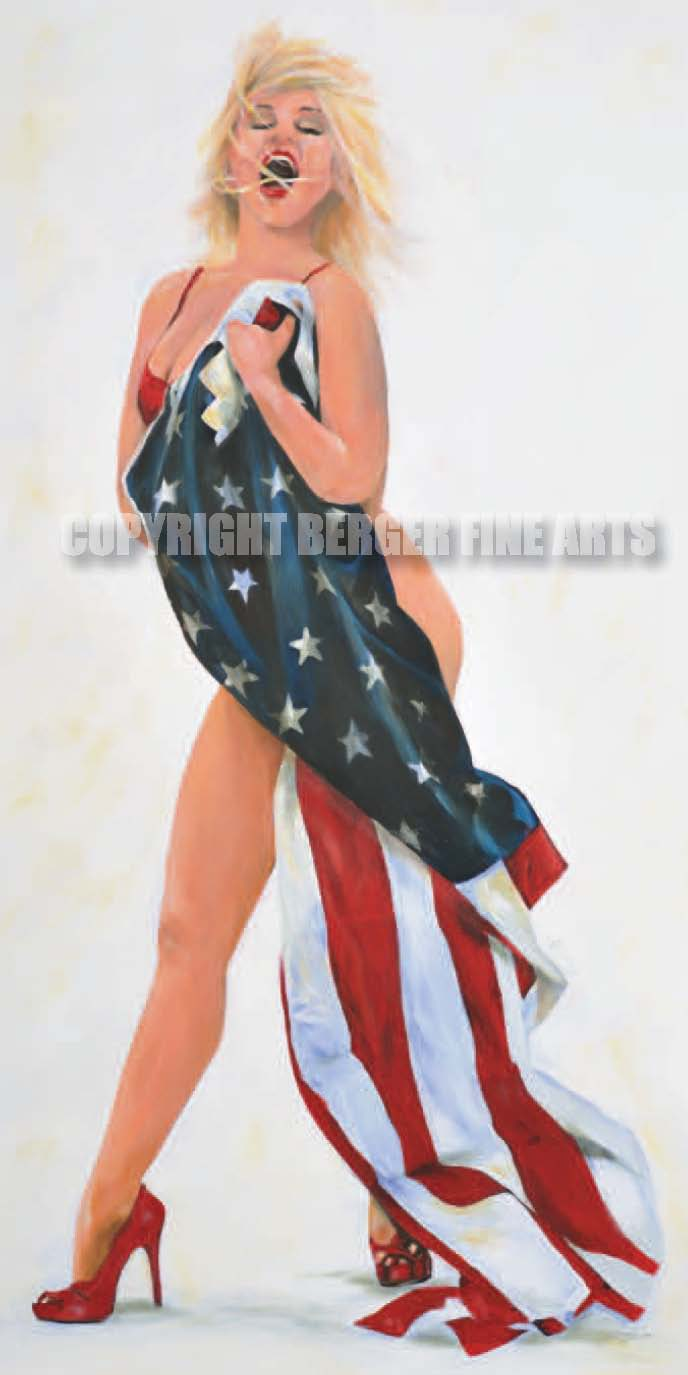 Marilyn Wrapped In Flag##