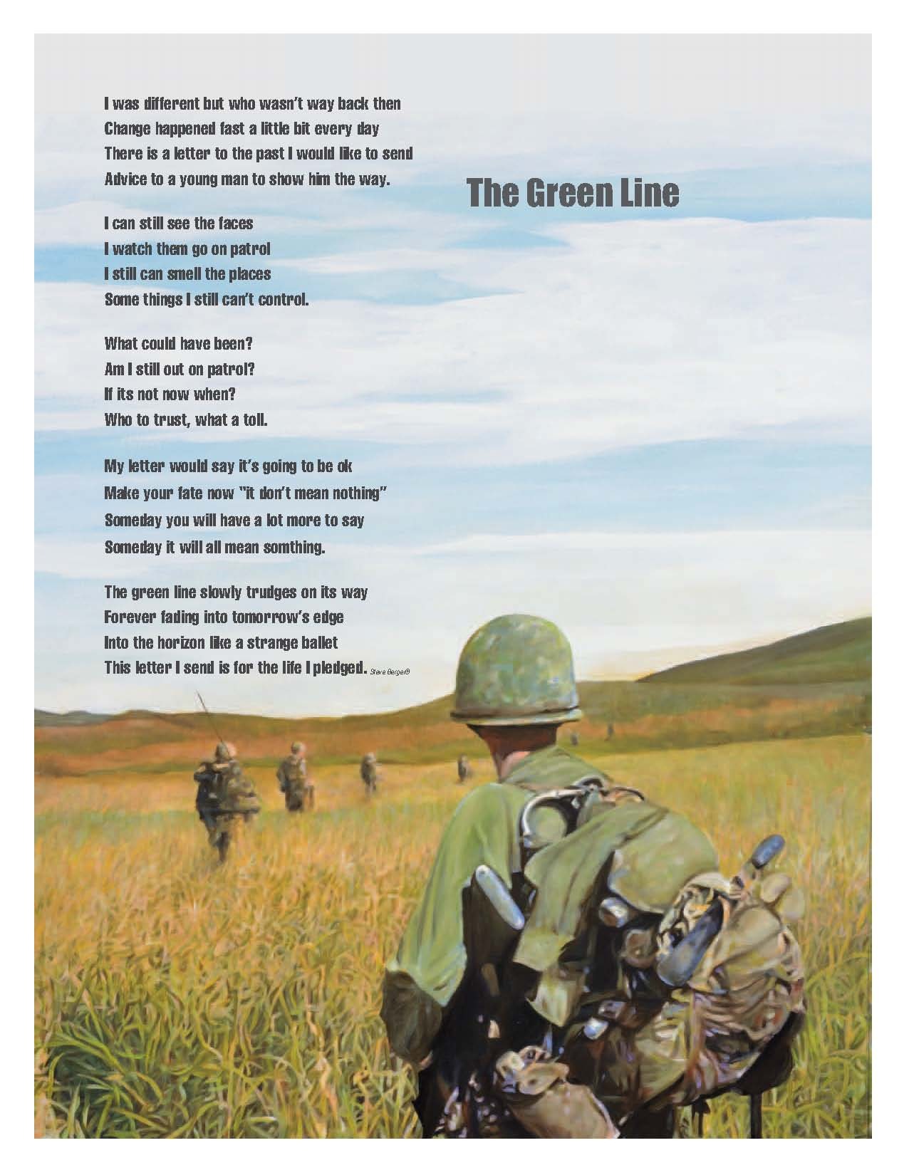 "16x20"" Poster ""On Patrol"" With Poem."