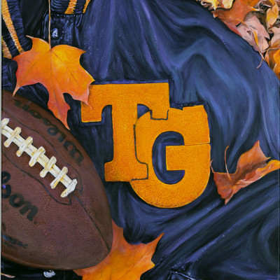 Totino Grace Letter Jacket in Leaves