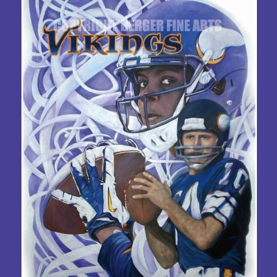 Minnesota Vikings Past & Present Original Painting